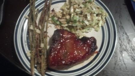 chop asparagus cabbage